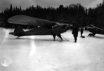 Planes Parked on Ice of Rock Harbor, February, 1942: [NVIC: 40-046], ISRO Archives.