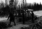 The Wood-Crew at Camp Isle Royale, ca. 1937: [NVIC: 30-034], ISRO Archives.
