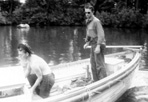 2 CCC Boys Operating a Government Boat, July 1938: E.C. Grever, [NVIC: 30-128], ISRO Archives.