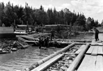 Construction of Docks and Storehouse on Mott Island by CCC, August 1938: [NVIC: 30-133], ISRO Archives.