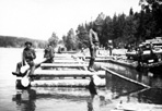 CCC Boys Working on Main Dock at Mott Island, ca. 1938: [NVIC: 30-206], ISRO Archives.