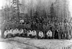 Group Photo of Camp Siskiwit CCC Boys, ca. 1938: [NVIC: 30-209], ISRO Archives.