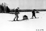Doctor from Camp Siskiwit on way to Hay Bay, Camp Siskiwit, ca. 1938: [NVIC: 30-219], ISRO Archives.