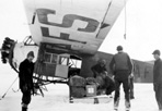 Arrival of Plane with Mail for CCC Boys, Camp Siskiwit, ca. 1938: [NVIC: 30-223], ISRO Archives.