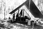 Temporary Field Kitchen, Camp Siskiwit, ca. 1938: [NVIC: 30-236], ISRO Archives.