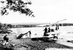 U.S. Navy Amphibian Plane on Shore Used to Combat Fire, Siskiwit Bay, 1936: [NVIC: 30-024], ISRO Archives.