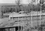 View of Camp Siskiwit from Water Tower, August 1938: Kieley, [NVIC: 30-138], ISRO Archives.