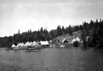 CCC Camp During Fire Near Chippewa Harbor, 1935: Wolbrink Collection [Sheet 38, Photo D], ISRO Archives.
