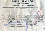 Rock Harbor Plat, June 20, 1908: Nichols Survey, Acquired Farmer Family Material, Isle Royale National Park.